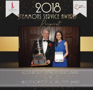 Stemmons Service Award 2018 web